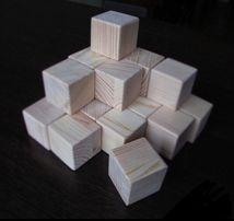 Набор деревянных кубиков / Дерев'яні кубики
