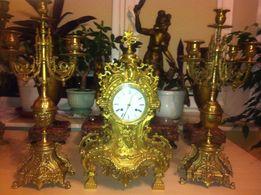 Часы каминные с канделябрами, Франция