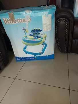 Walking ring and bouncy seat combo