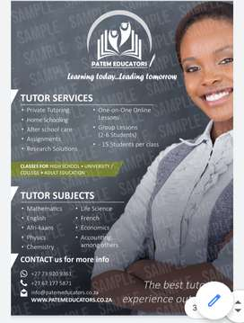 Mathematics and physical science tutor