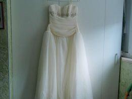 Платье свадебное стильное размер S шифоновое