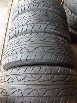 A set of 265/65/17 dunlop grand trek tyres in excellence condition