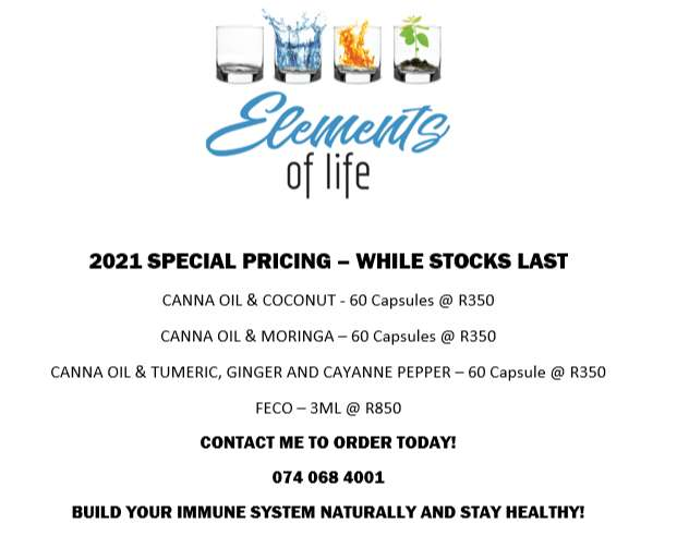 Elements of Life - Canna Oil Products 0