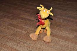 Мягкие игрушки Среднего размера Жирафик,Мамонтенок,Собачка Официант