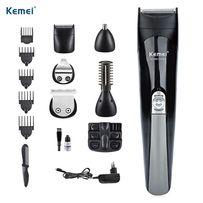 Машинка для стрижки Kemei KM-600 11 в 1 тример бритва Лучший Подарок!