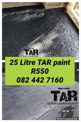 Superior Quality Solvent based tar paint, black & battleship grey 25l