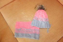 Набор зима шапка и снуд в отличном состоянии на 3-7 лет