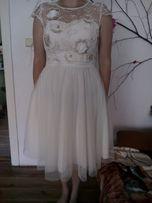 Sukienka ślubna plus bolerko