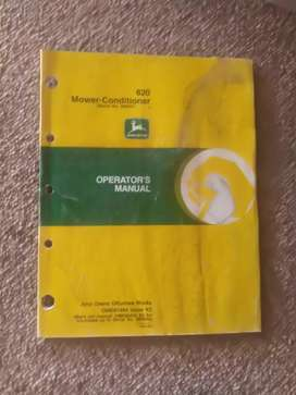 John Deere, mower conditioner  820, manual