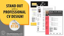 PROFESSIONAL CV DESIGN TO STAND OUT!