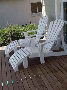 Outdoor deck chairs