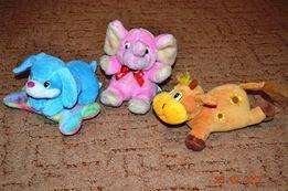 Мягкая игрушка Розовый слон музыкальный