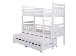 Łóżko piętrowe 3-osobowe ZUZIA 80x180 + materace