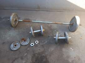Gym barbell, weights