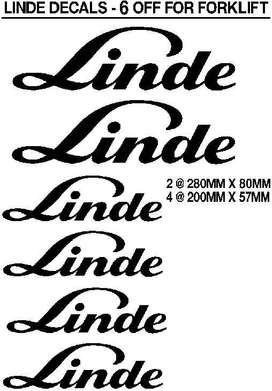 Linde forklift decals stickers