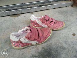 Кожаные кроссовки детские