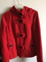 Czerwony ciepły płaszczyk cropp