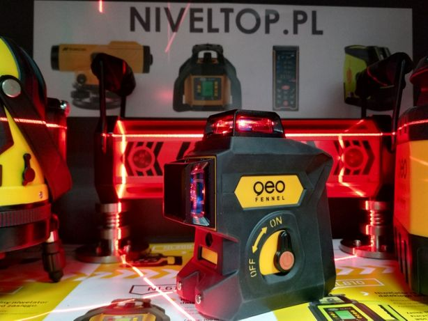 WYTRZYMAŁY 60m Laser liniowy krzyżowy Geo6X SP geoFennel 3D + STATYW Kielce - image 3