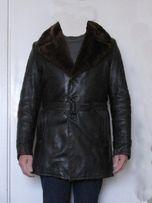 Куртка кожаная, зимняя, мужская, р-р 48-50