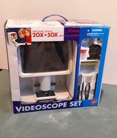 Videoscope mikroskop video powiększenie na ekranie 20x50x pełny zestaw