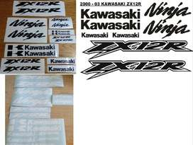 Kawasaki ZX 12R decals vinyl cut sticker kits