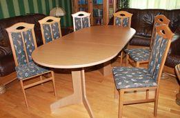 Стол Обеденный раскладной+6 Стульев, массив ореха, Германия