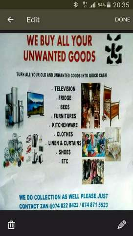 We buy your unwanted items