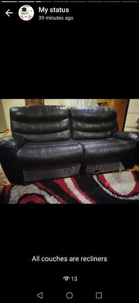 3 piece recliner couches