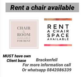 Rent a chair and beauty room available