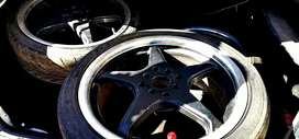 HPR Racing 17 inch 5 star Rims & tyres