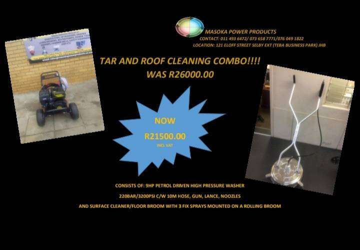 TAR AND ROOF CLEANING MACHINE