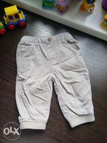 Вельветовые двойные теплые брюки M&S 6 мес.