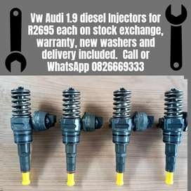 Vw caddy 1.9 injectors and Be Audi 1.9 diesel injectors for sale