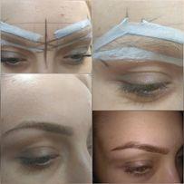 Моделирование формы бровей,покраска хной.Ботокс и кератин волос
