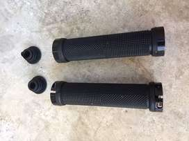 Bmx mountain bike clamp on handle bar hand grips , pair