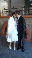 НАБОР ДЕШЕВО: свадебное платье + шубка + сумочка + перчатки.