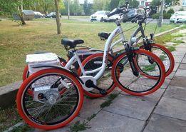 Rower trójkołowy, niezależny napęd na dwa koła - producent