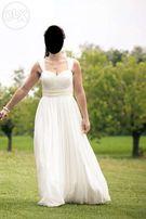 Suknia slubna Pronovias rozmiar 38 + welon 2m i pokrowiec GRATIS boho