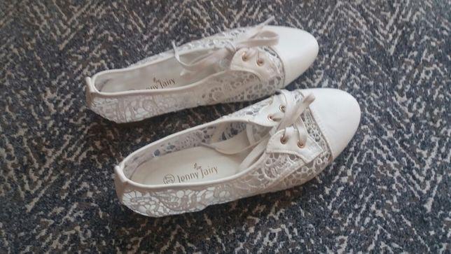 Buciki wiosenne letnie białe 37 Jenny Fairy Sosnowiec - image 1
