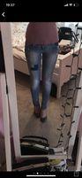 Spodnie rurki jeansowe stradivarius zara 34 damskie modne legginsy