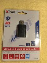 Czytnik Kart SD USB plus gniazdo microSD SZYBKI