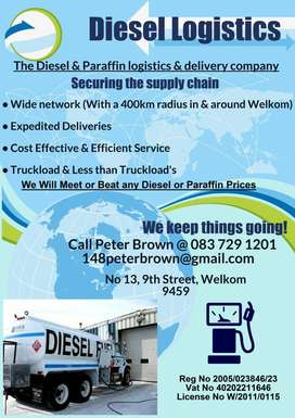 Diesel and Paraffin for sale.