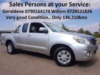 2012 Toyota Hilux 2.5 SRX Ext/Cab Very good Condition 0
