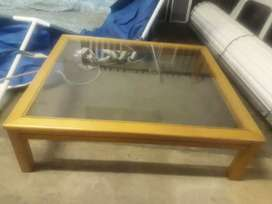 Oregan glass top coffee table