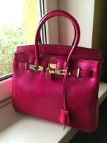 Кожаная женская брендовая сумка Hermes бу