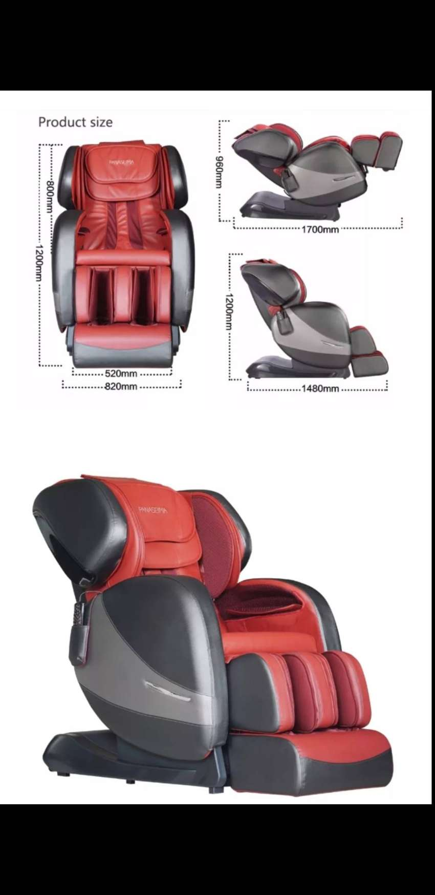 Top of the range massage chair with 11 automatic functions