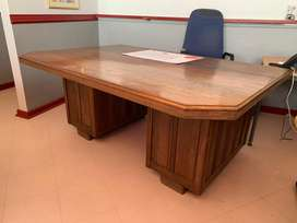 Big Solid Wood Office desk with drawers