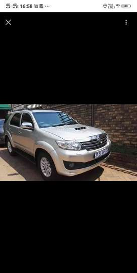 I'm looking for Toyota Fortuner to buy from R150 000 cash