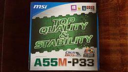 Материнская плата FM1 MSI A55M-P33 новая