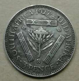 Very nice 1927 S.A silver tickey